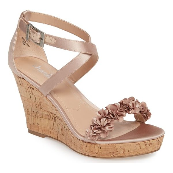 CHARLES BY CHARLES DAVID lauryn wedge sandal - Pretty flowers bloom at the strap of a striking sandal...