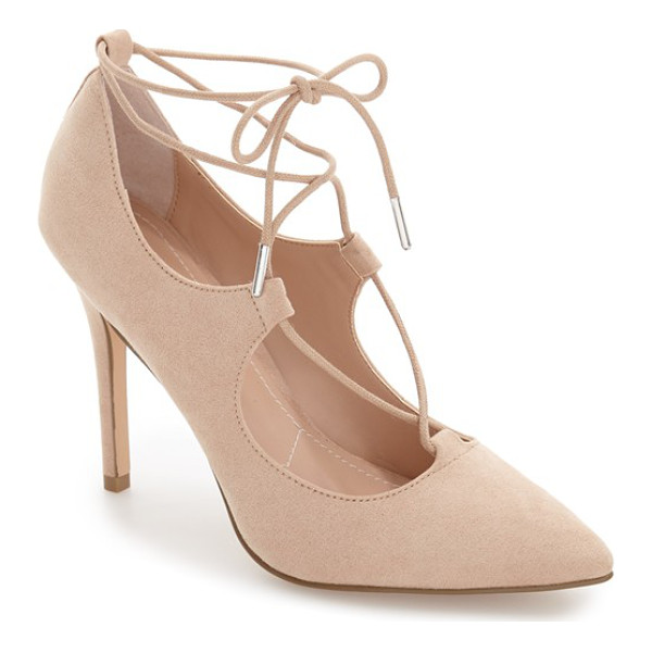 CHARLES BY CHARLES DAVID pierogi lace up pump - A pointy-toe pump exudes uptown sophistication in lush