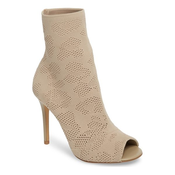 CHARLES BY CHARLES DAVID ranger sock knit open toe bootie - A sock-knit bootie with a peekaboo toe opening is lifted by...