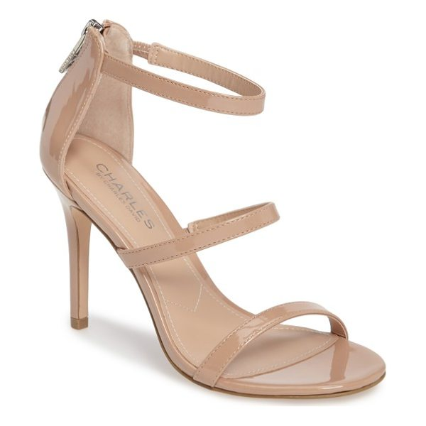 CHARLES BY CHARLES DAVID ria strappy sandal - A trio of slender straps ladders up the front of a sultry...