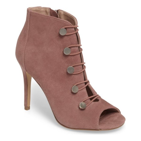 CHARLES BY CHARLES DAVID royalty bootie - Elasticized hook-and-eye details define a chic,...