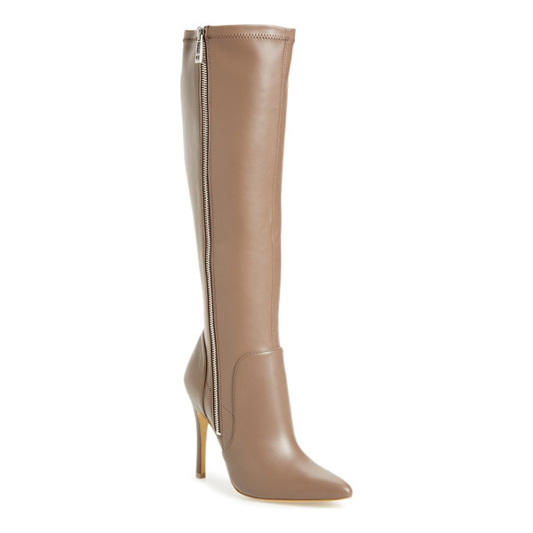 CHARLES BY CHARLES DAVID trinity knee high pointy toe boot - A dramatic pointy toe and a towering stiletto provide the...