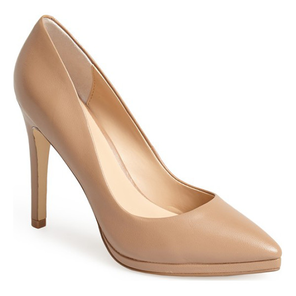 CHARLES BY CHARLES DAVID plateau platform pump - A pitch-reducing platform and pointy-toe design makes this...