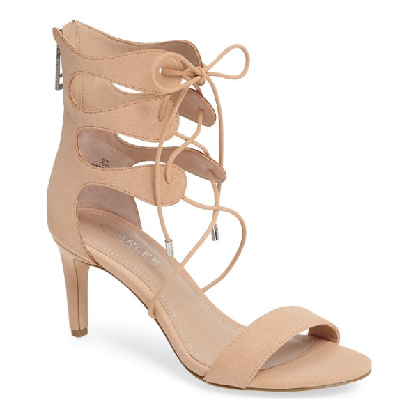 CHARLES BY CHARLES DAVID zone lace-up sandal - Embracing this season's trend toward inventive silhouettes,...