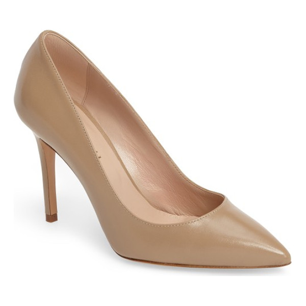 CHARLES DAVID charles by  genesis pointy toe pump - A classic pointy-toe silhouette makes this streamlined pump...