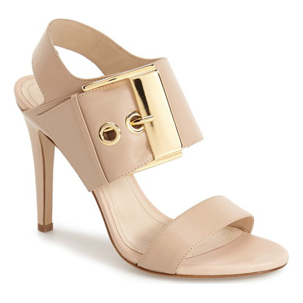 CHARLES DAVID evana sandal - An oversized buckle strap adds bold, contemporary flair to...