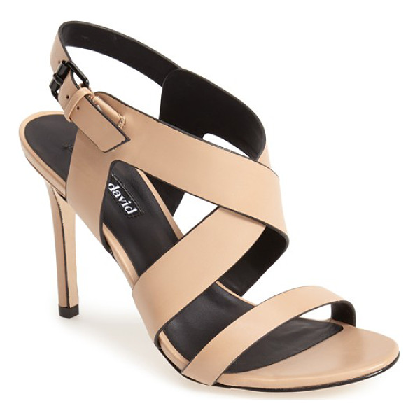 CHARLES DAVID ivette strappy sandal - The ultrasmooth, contrast-edge leather of the Ivette sandal...