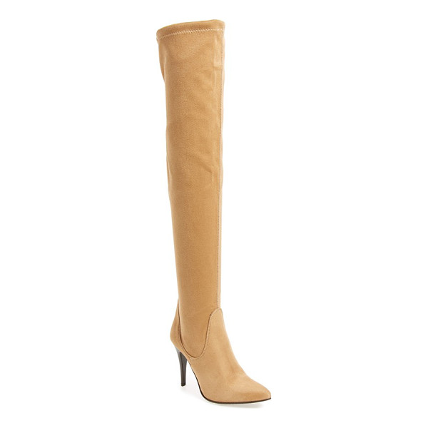 CHARLES DAVID katerina over the knee boot - A pointy toe and stiletto heel heighten the scene-stealing...