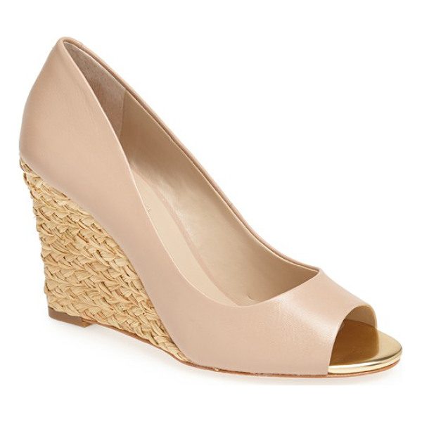 CHARLES DAVID nemesis wedge pump - A versatile pump shaped from smooth leather is lifted by an...