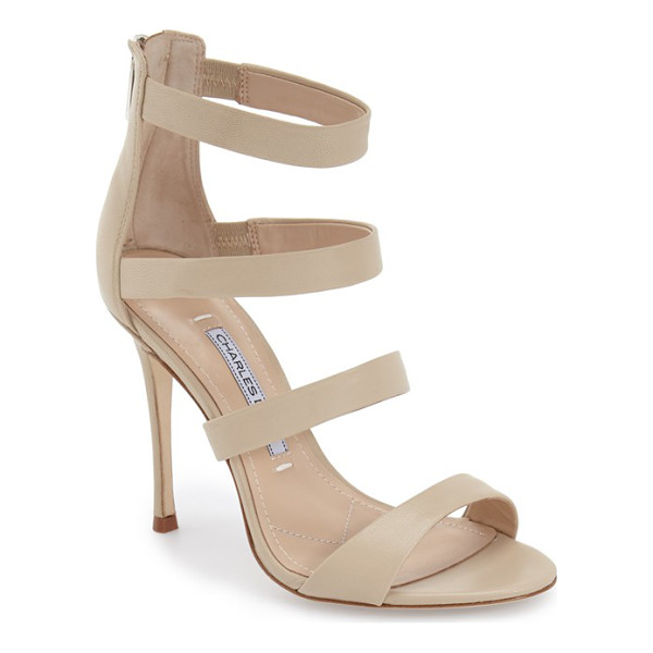 CHARLES DAVID olina sandal - Take on the night in style with this chic suede sandal...