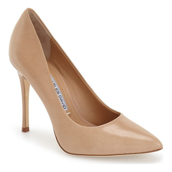 CHARLES DAVID rebecca pointy toe pump - A sophisticated, pair-with-anything pump in a classic...