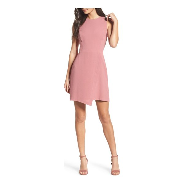 CHARLES HENRY faux wrap dress - A faux-wrap front takes an unexpected dip at the hem of...