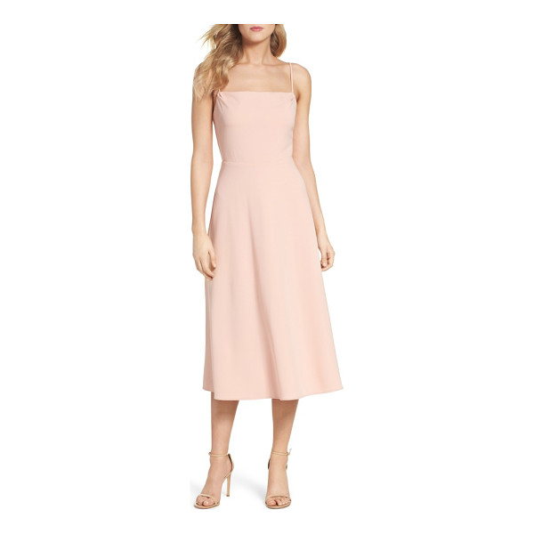 CHARLES HENRY midi dress - A fit-and-flare looks simply chic with a square neck, clean...