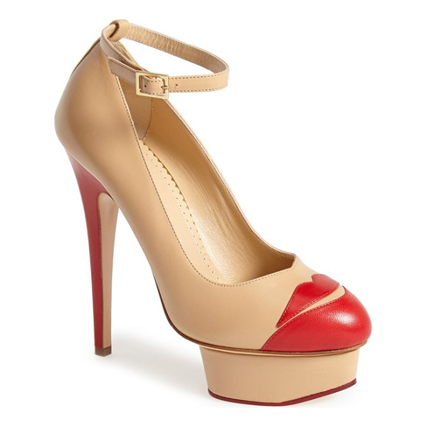 CHARLOTTE OLYMPIA kiss me dolores platform pump - Pucker up for Charlotte Olympia's Kiss Me Dolores styled...