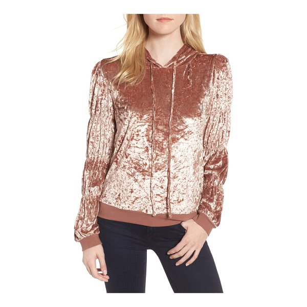 CHELSEA28 crushed velvet hoodie - Step up your off-duty look in this crushed velvet hoodie...
