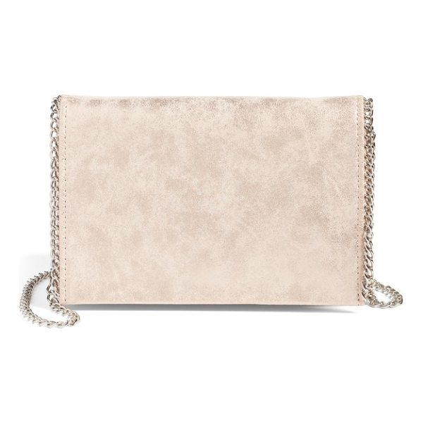 CHELSEA28 faux leather crossbody clutch - Gleaming chain-link trim elevates the day-to-evening...