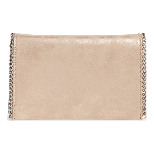 CHELSEA28 faux leather clutch - Gleaming chain-link trim elevates the day-to-evening