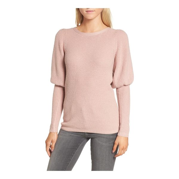 CHELSEA28 puff sleeve sweatser - A contemporary take on a classic sweater, this lightweight...