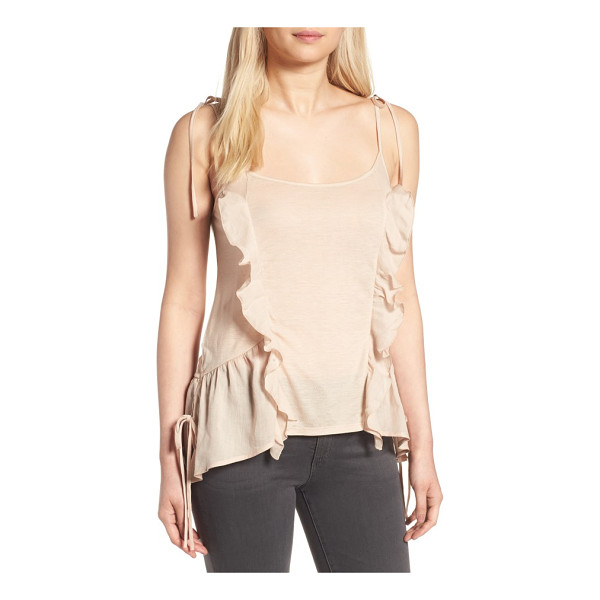 CHELSEA28 ruffle knit tank - Cascading ruffles style a whimsical tank in an airy...