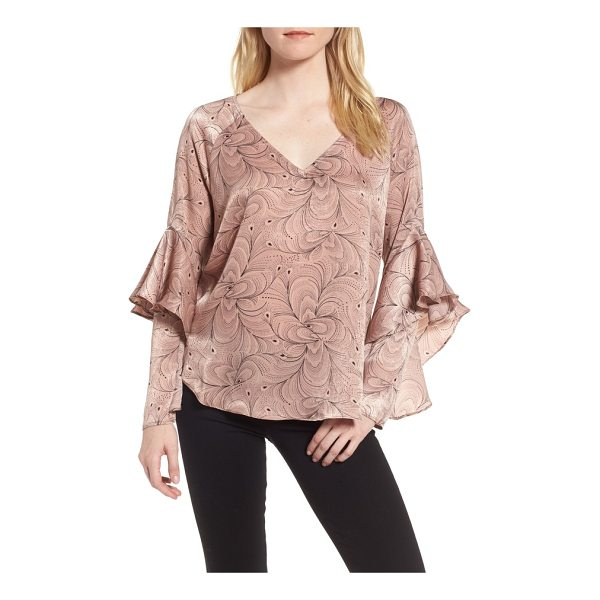 CHELSEA28 ruffle sleeve blouse - With its languid ruffles, this drapey satin blouse is a...