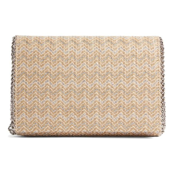 CHELSEA28 stripe straw convertible clutch - Updated in striped woven straw for the new season, this...