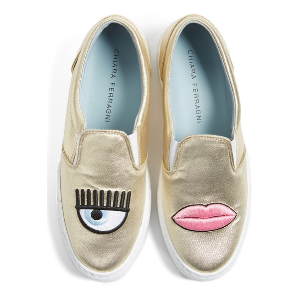 CHIARA FERRAGNI flirting lips slip-on sneaker - Add some levity to your laid-back looks with fabulously fun...