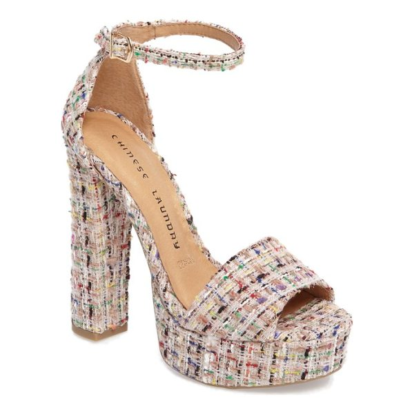 CHINESE LAUNDRY avenue platform sandal - A chunky platform sandal wrapped in ladylike tweed adds...