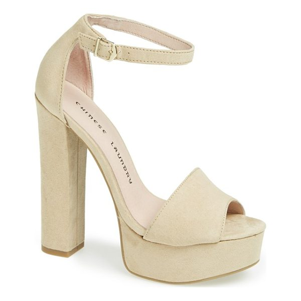 CHINESE LAUNDRY 'avenue' sandal - An attention-grabbing platform sandal elevates retro style...