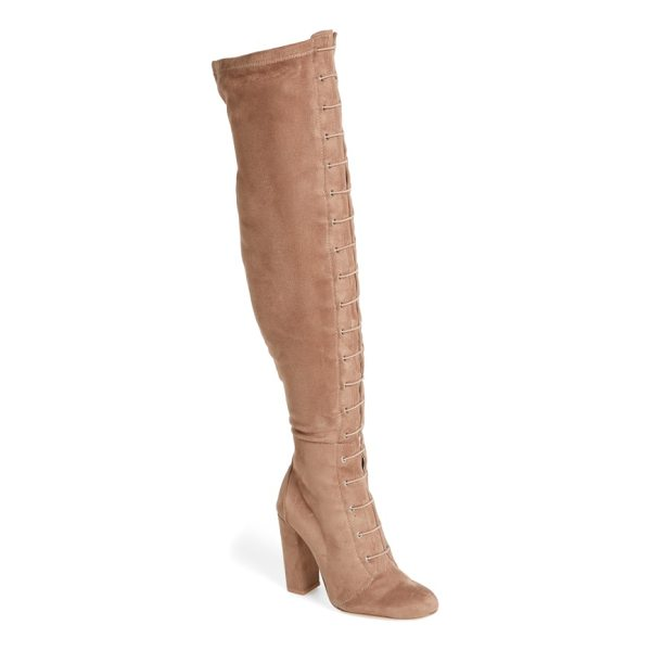 CHINESE LAUNDRY benita over the knee boot - Dainty laces ladder up these sky-high over-the-knee boots...