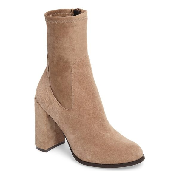 CHINESE LAUNDRY charisma bootie - A stretchy ankle-length shaft gives this round-toe bootie a...