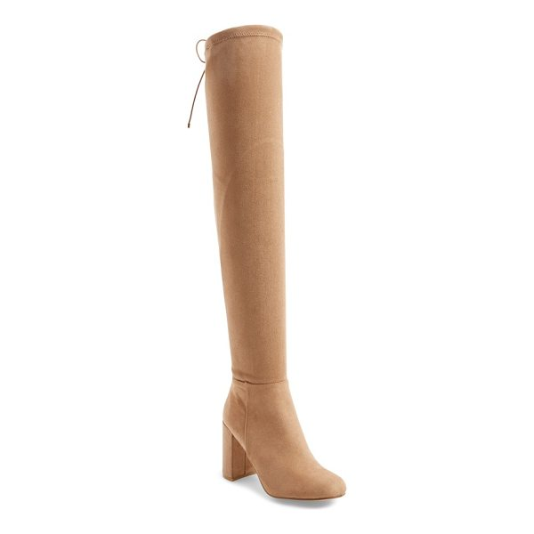CHINESE LAUNDRY krush over the knee boot - A soaring over-the-knee shaft secured by slim drawstring...