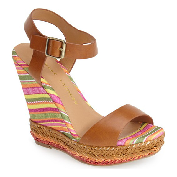 CHINESE LAUNDRY mahalo wedge sandal - A striped wedge heel and woven accents bring summer-ready...