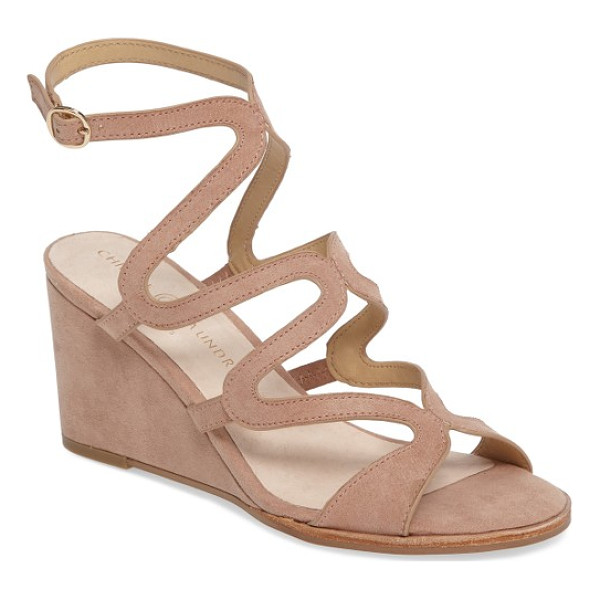 CHINESE LAUNDRY radical wedge sandal - Wavy cage straps curve sinuously up the front and buckle...