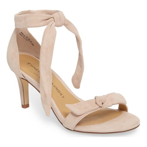 CHINESE LAUNDRY rhonda ankle tie sandal - A knotted detail embellishes the toe of a barely there...