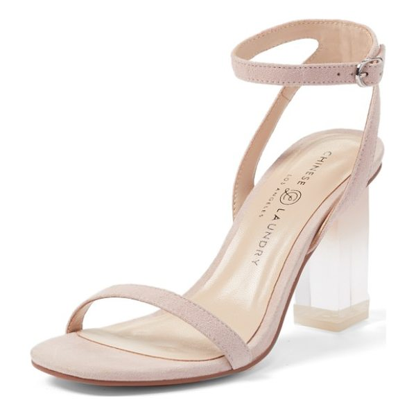 CHINESE LAUNDRY shanie clear heel sandal - Ombre tinting defines the clear statement heel of a barely...