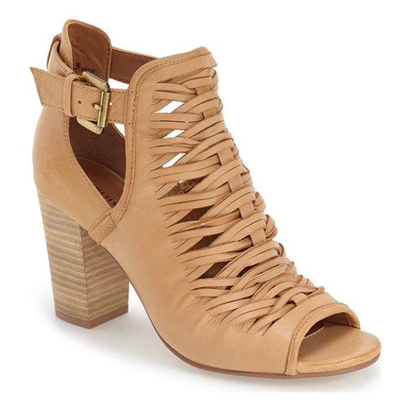 CHINESE LAUNDRY 'tatiana' open toe bootie - A modern take on a classic style, this peep-toe bootie is...
