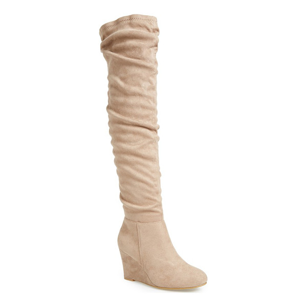 CHINESE LAUNDRY upside boot - A slouchy shaft styles this over-the-knee boot featuring an...