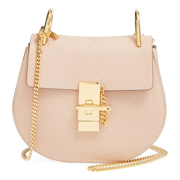CHLOE 'mini drew' leather shoulder bag - Chloe's newest take on the saddle bag is the epitome of