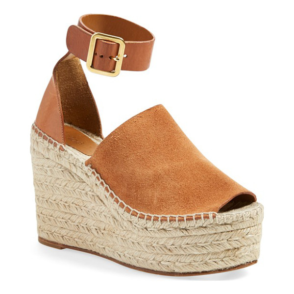CHLOE isa espadrille wedge sandal - Chloe takes the espadrille to new heights with the Isa...