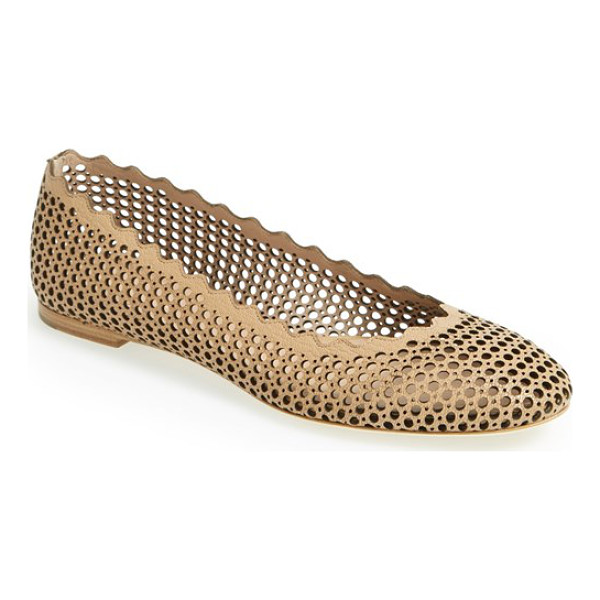 CHLOE lauren scalloped ballerina flat - A scalloped topline puts a signature touch on a classic...