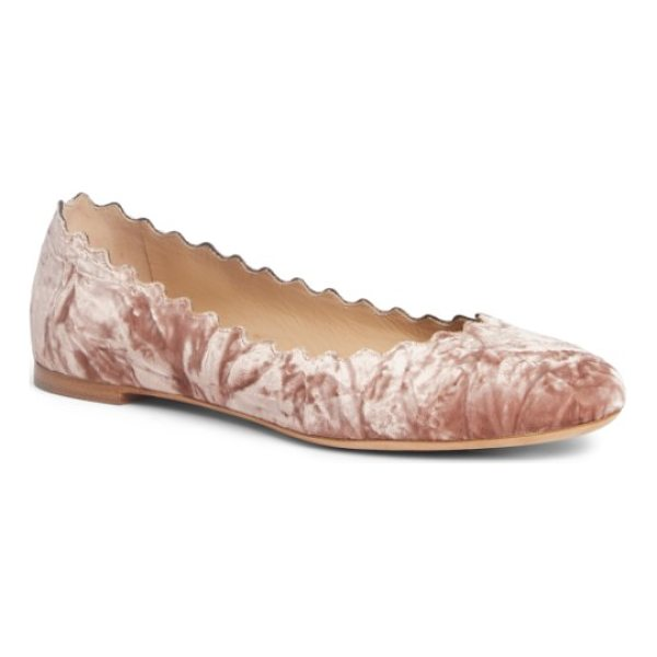 CHLOE lauren scalloped ballet flat - A scalloped topline adds a flirty, feminine finish to an...