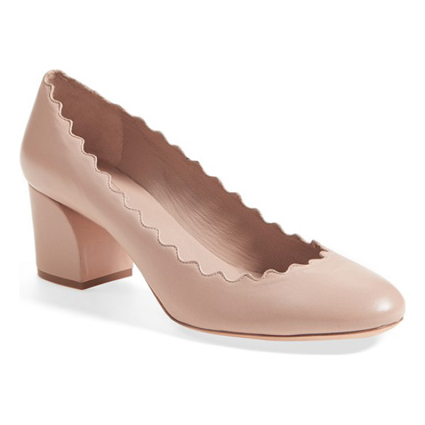 CHLOE lauren scalloped pump - A scalloped topline puts a signature touch on a classic...