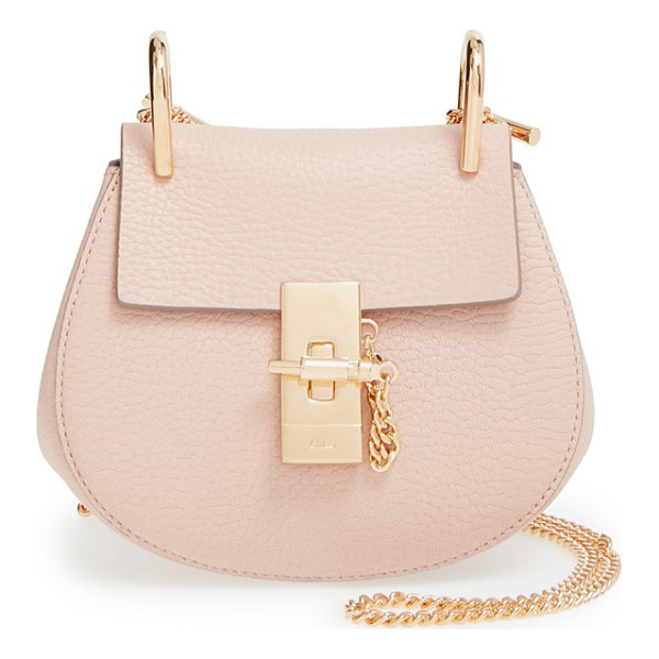 CHLOE Nano drew lambskin leather shoulder bag - Smooth lambskin accentuates the timeless sophistication of...