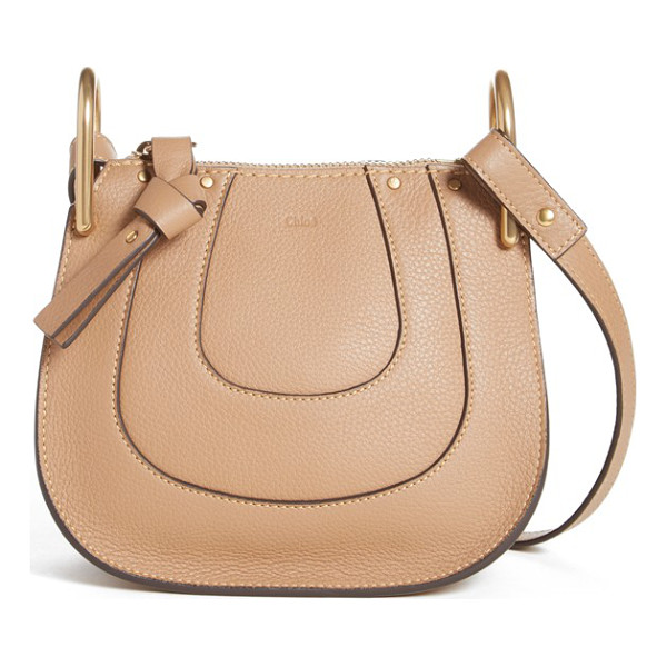 CHLOE Nano hayley calfskin leather shoulder bag - Curvaceous seaming ornaments the saddle-shaped silhouette...