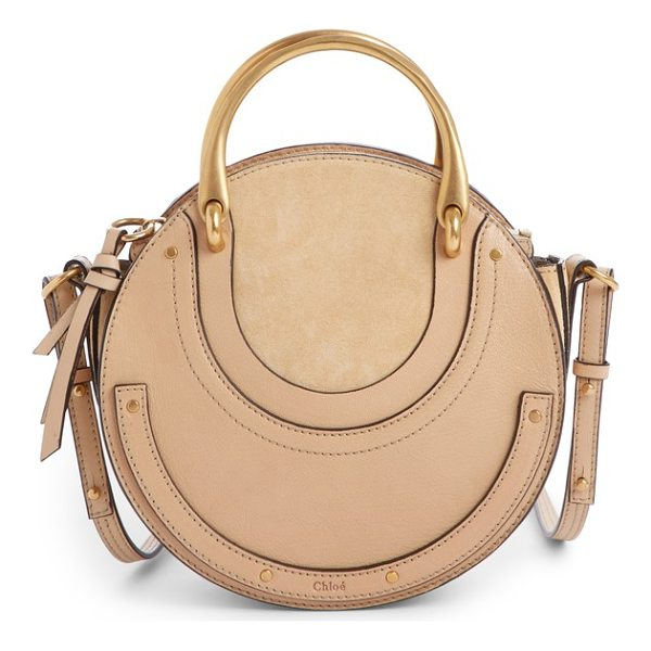 CHLOE pixie leather crossbody bag - Polished studs and goldtone hardware accentuate the...