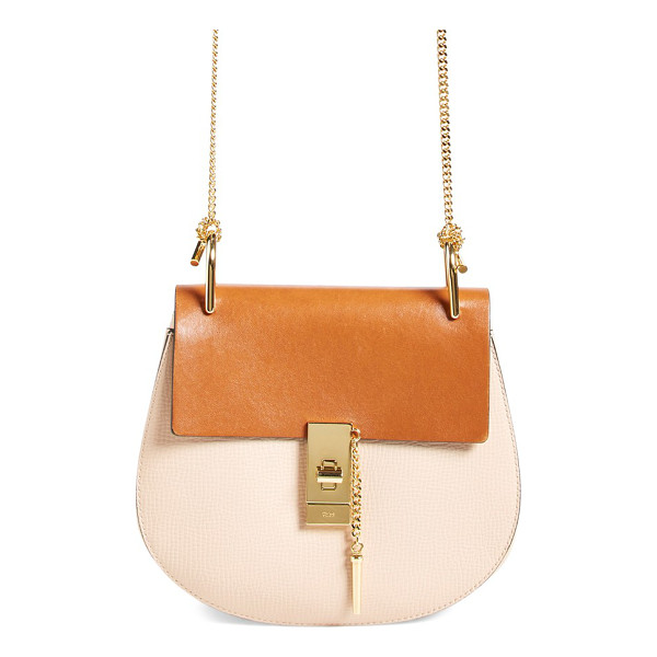 CHLOE 'small drew' leather shoulder bag - Chloe's newest take on the saddle bag is the epitome of