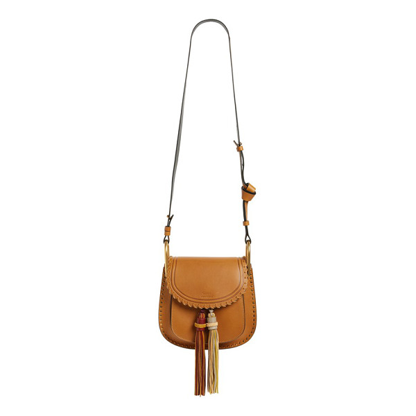 CHLOE Small hudson tassel leather shoulder bag - Richly hued double tassels add swingy movement to Chloe's...