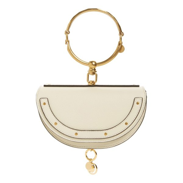 CHLOE small nile bracelet calfskin leather minaudiere - An articulated Chloe bracelet and a dangling logo charm add...