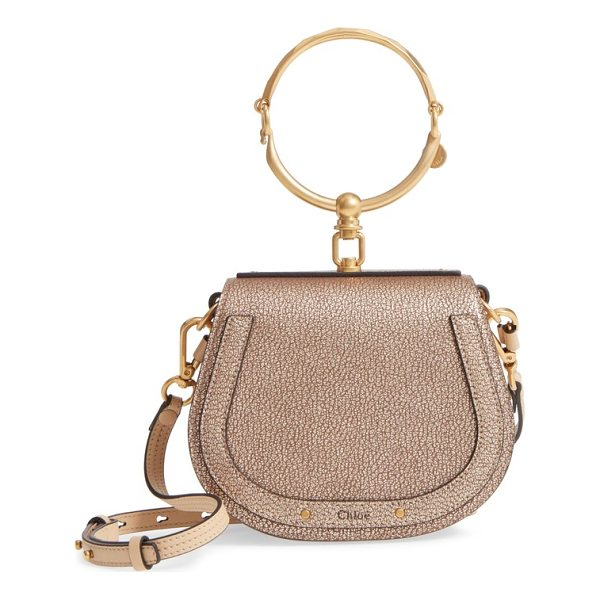 CHLOE small nile bracelet metallic leather crossbody bag - Equestrian-inspired lines accentuate the simple, practical...