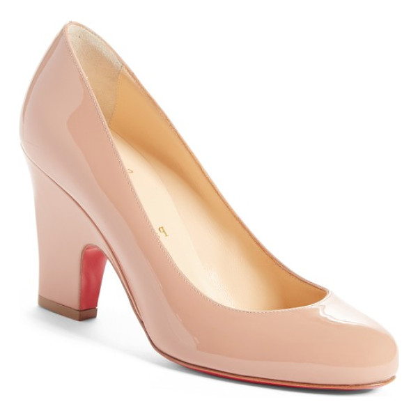 CHRISTIAN LOUBOUTIN akdooch pump - The classic round-toe silhouette of this patent-calfskin...
